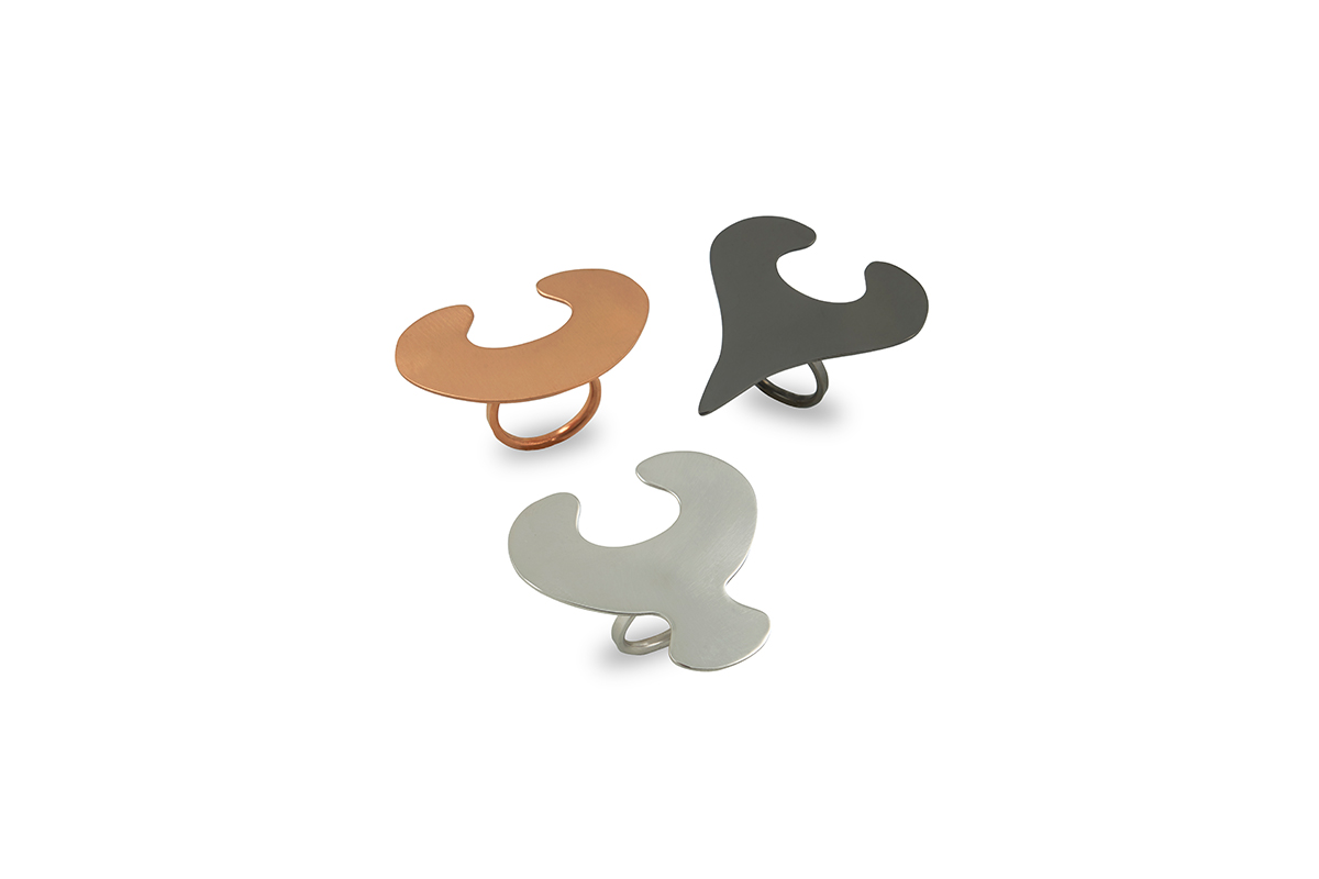 Rings Platinum Plated Sterling Silver &Bronze