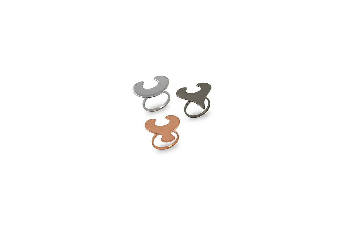 Rings Platinum Plated Sterling Silver