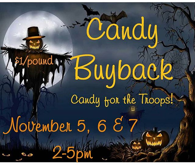 Hope to see you all next week for this! #nosugar #candybuyback