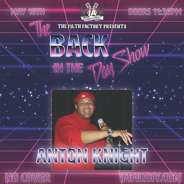 Meet this month's lineup! Anton Knight went from wearing red turtlenecks, to probably still owning a red turtleneck. Another thing that hasn't changed about Anton is that he's funny AF. . . . . . . . . . .  Come see Anton on 5/18! 🚪 Doors open at 11:30 🍷 $25 All You Can Drink 🎟️ Reserve your FREE tickets at the link in our bio