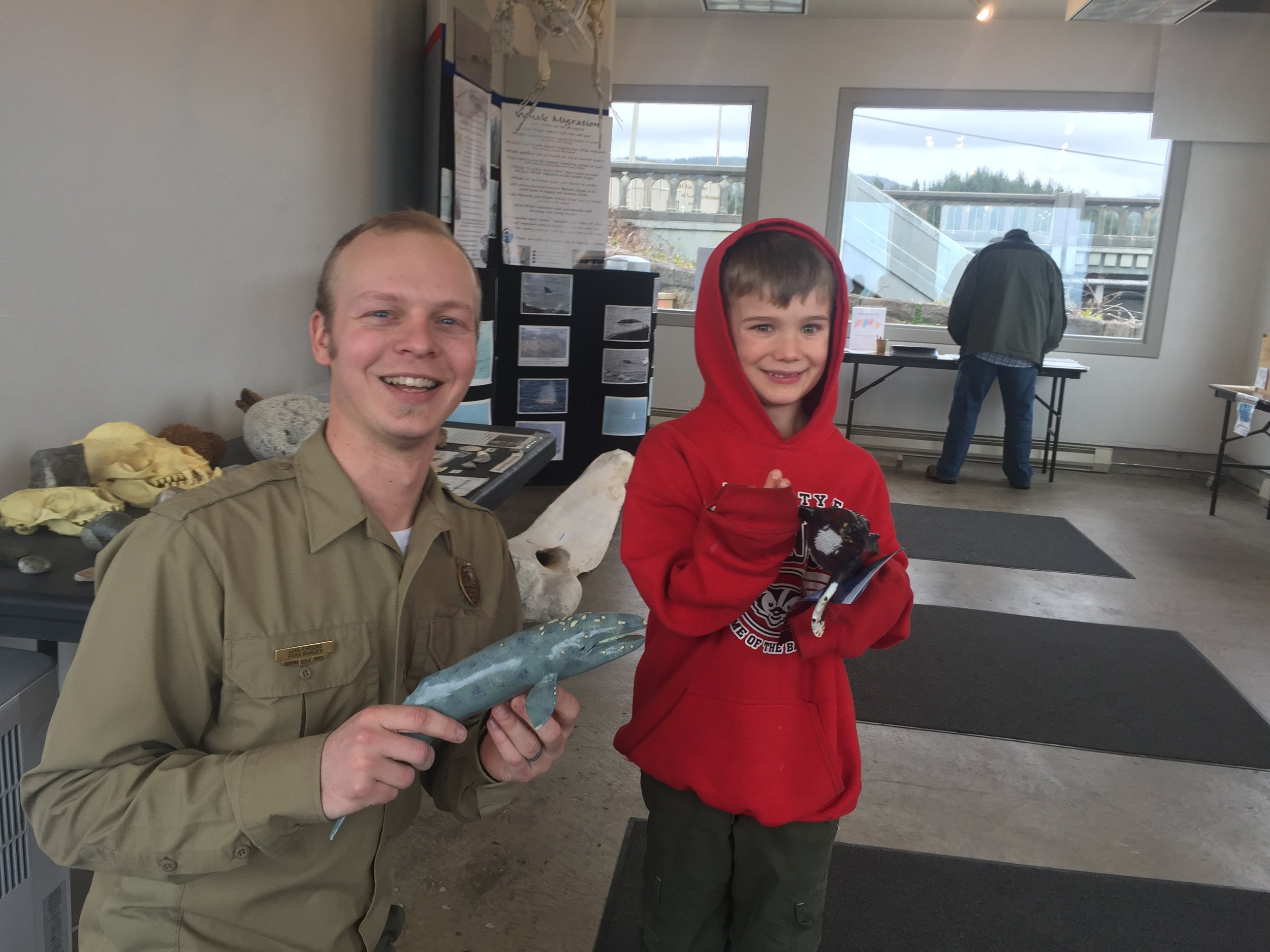 Park Ranger Luke and Isaac and at Whale Center Depoe Bay