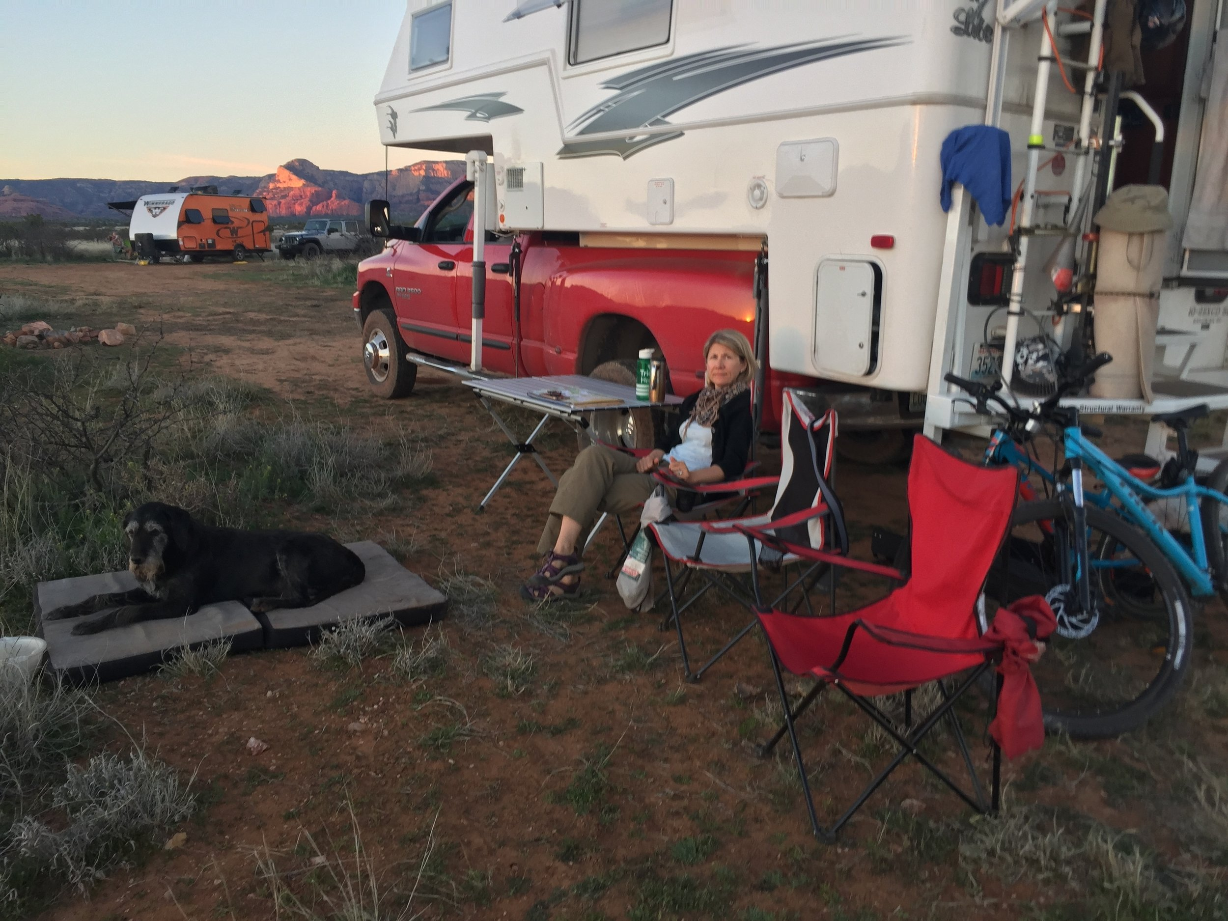 Spring Break in AZ = Busy campgrounds