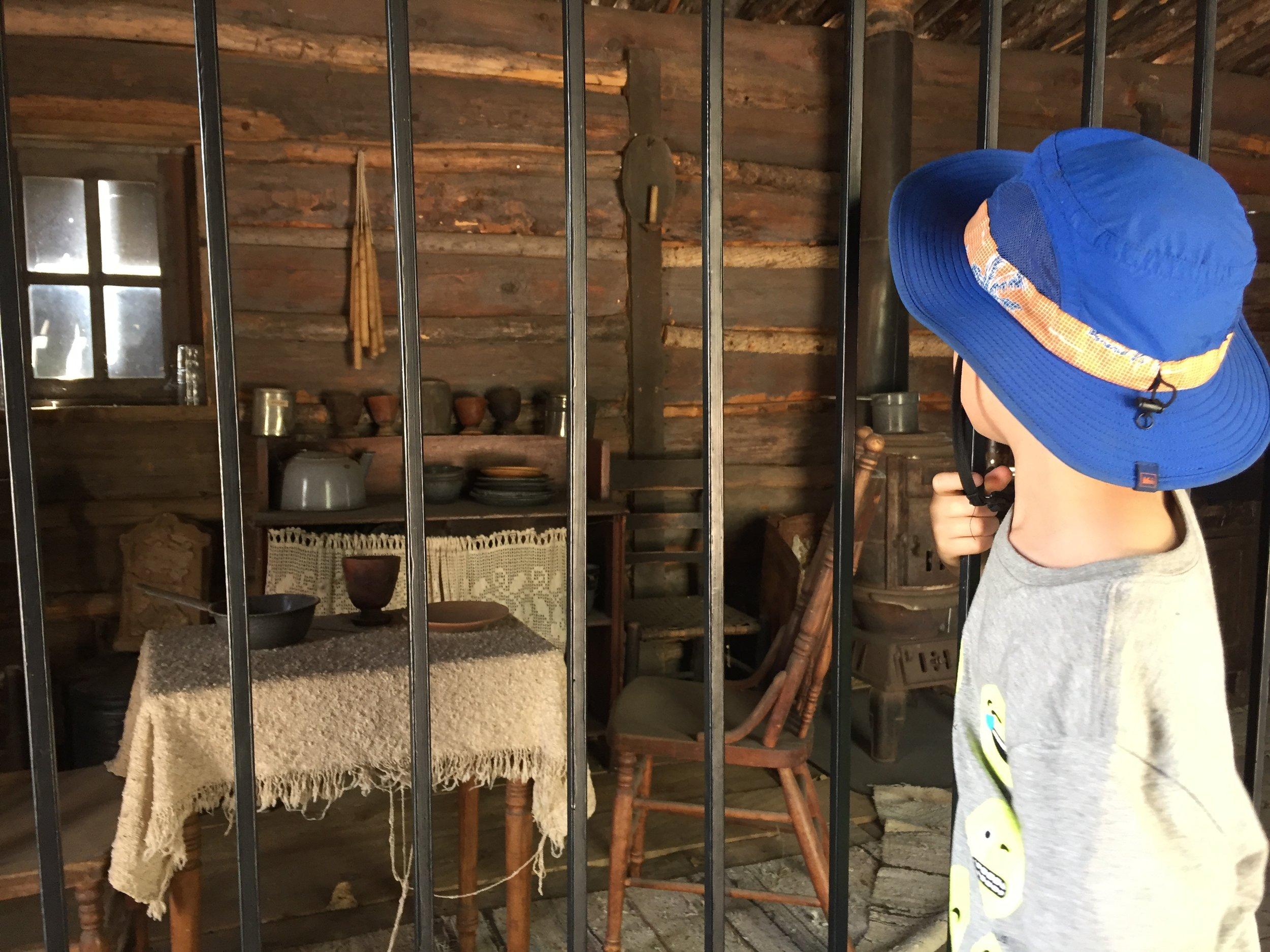 Billie the Kid's cabin. (Silver City)