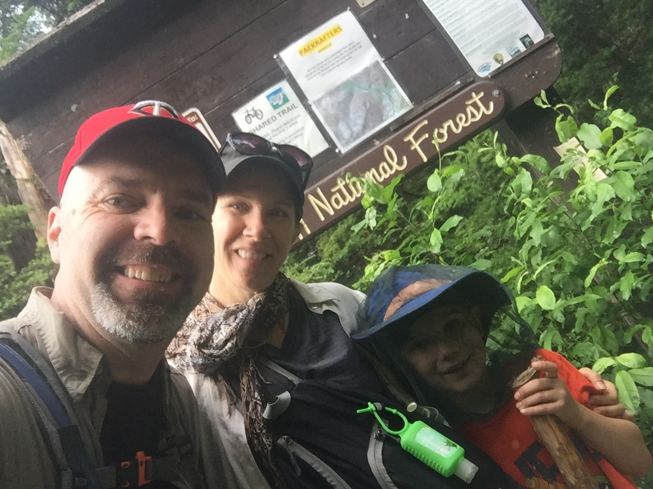 After a great hike. Free bus takes us back to the trailhead
