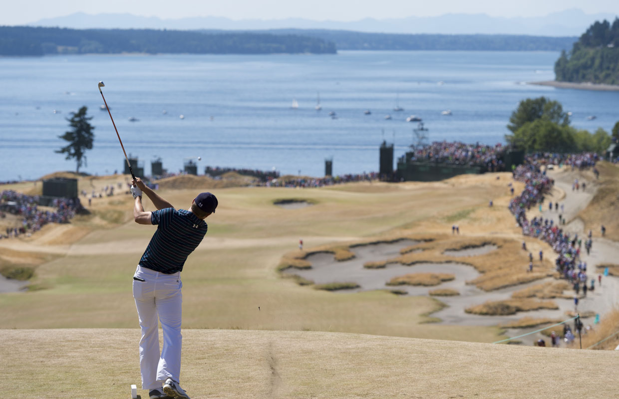 Jordan Spieth won the 2015 US Open at the picturesque Chambers Bay Golf Club. A 2 mile, public walking path takes visitors down to the water and through the course.