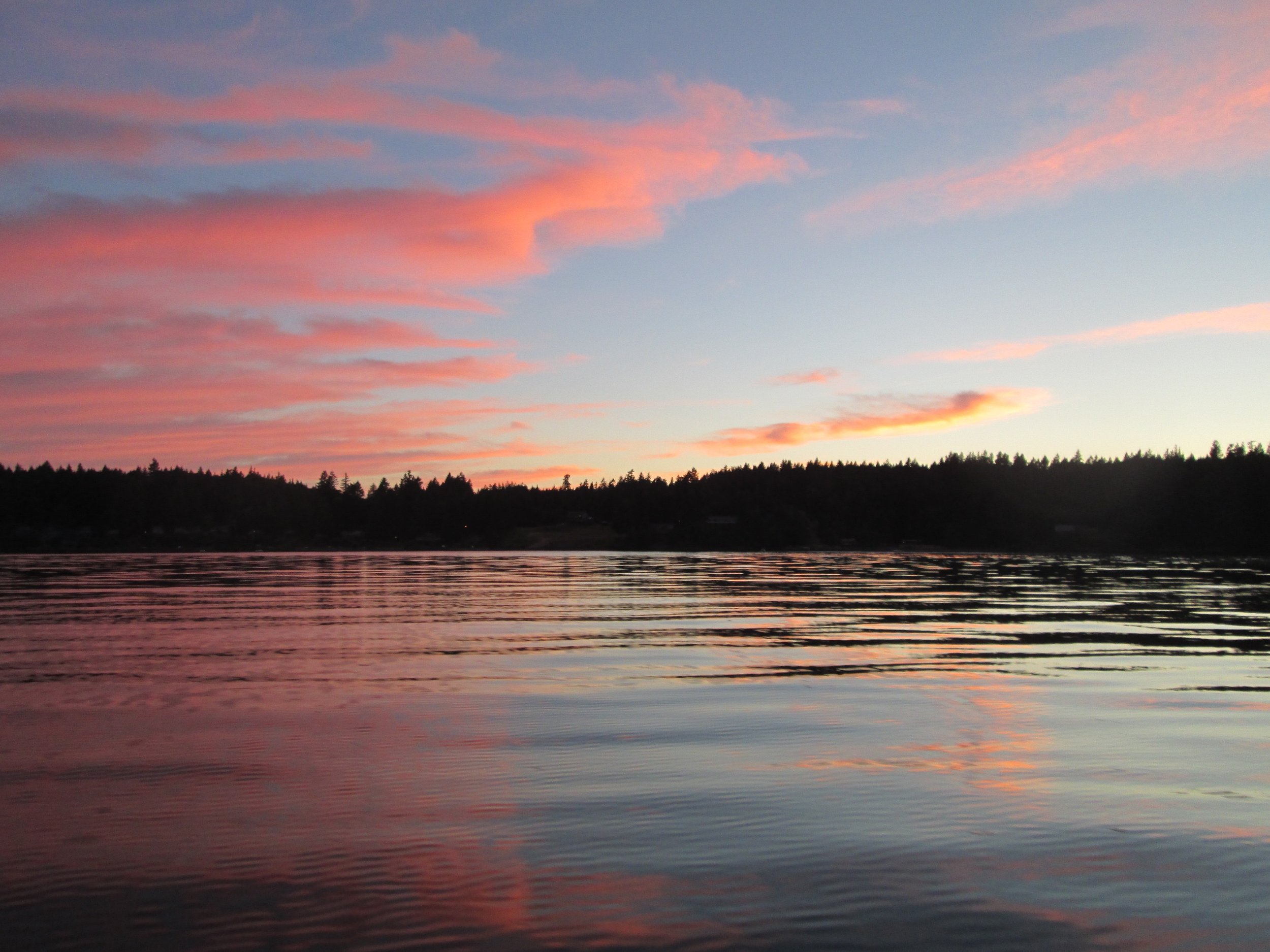 Sunset Over Carr Inlet