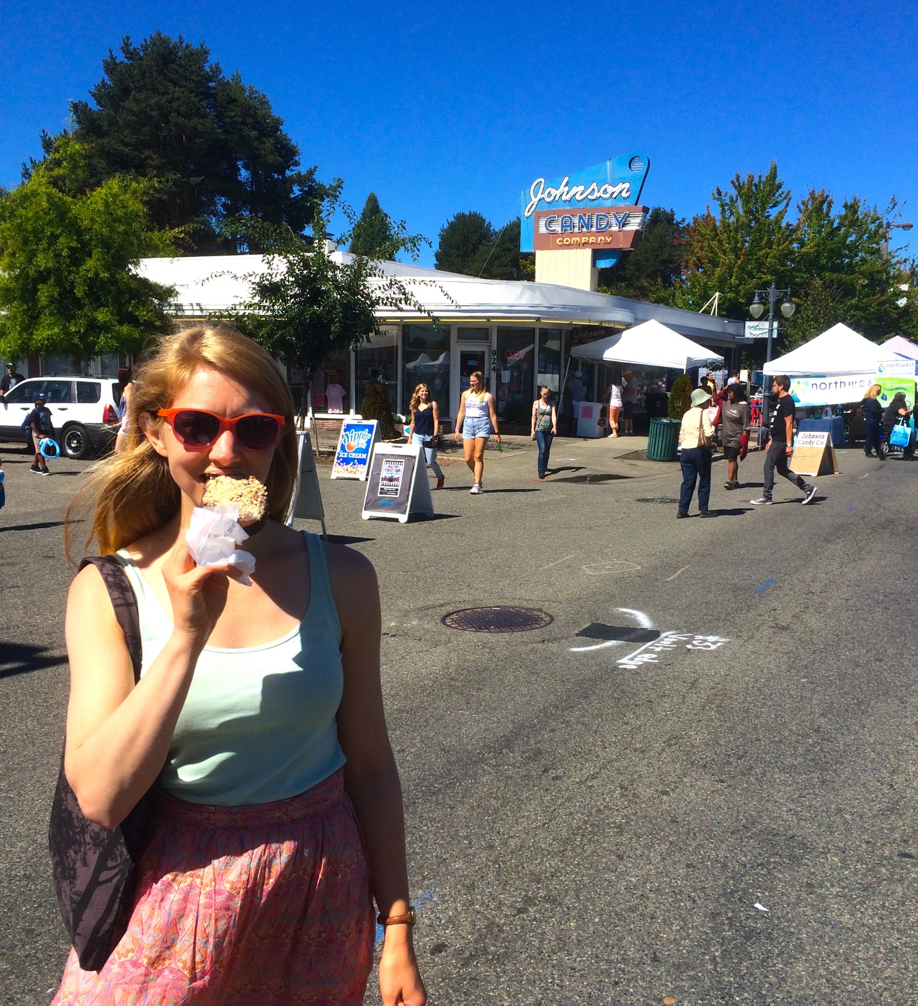 Dark Chocolate with Almonds at the Hilltop Street Fair - so good!