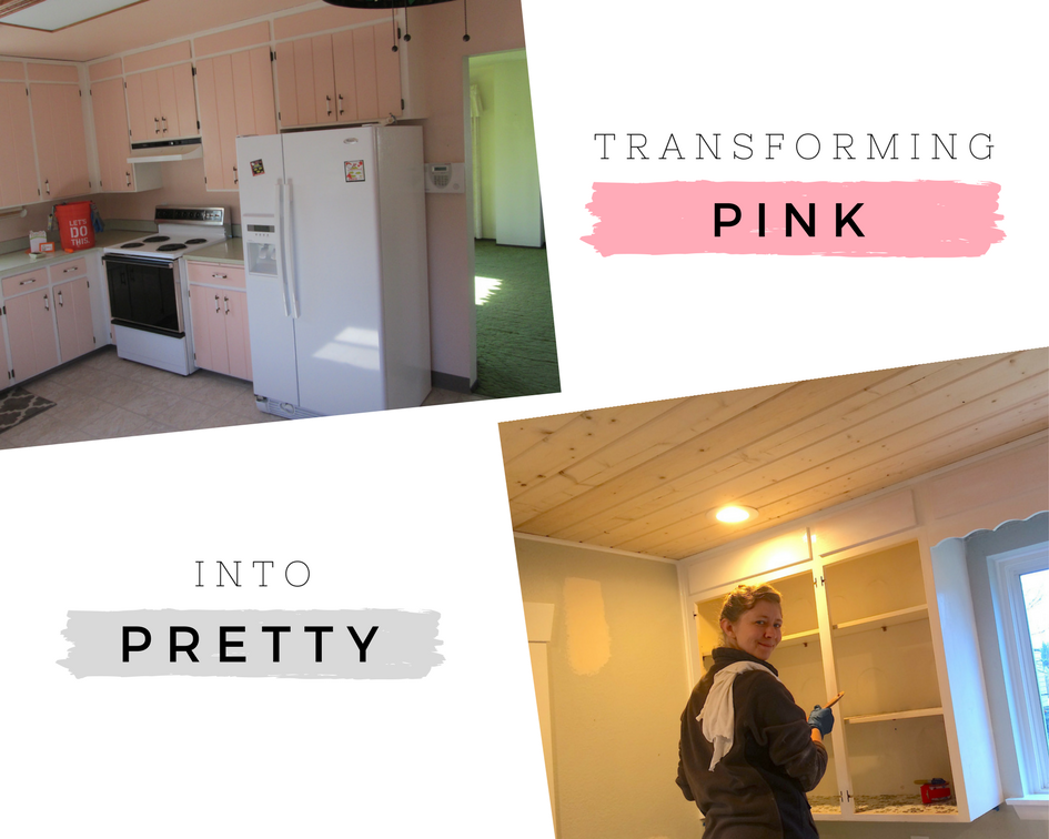 Our own inventory tour resulted in a long list! Put a kitchen ceiling back in, paint the garage and shed, touch-up paint in almost every room, paint the porch, finally paint the pink kitchen cabinets white, build a new fence, the list goes on.