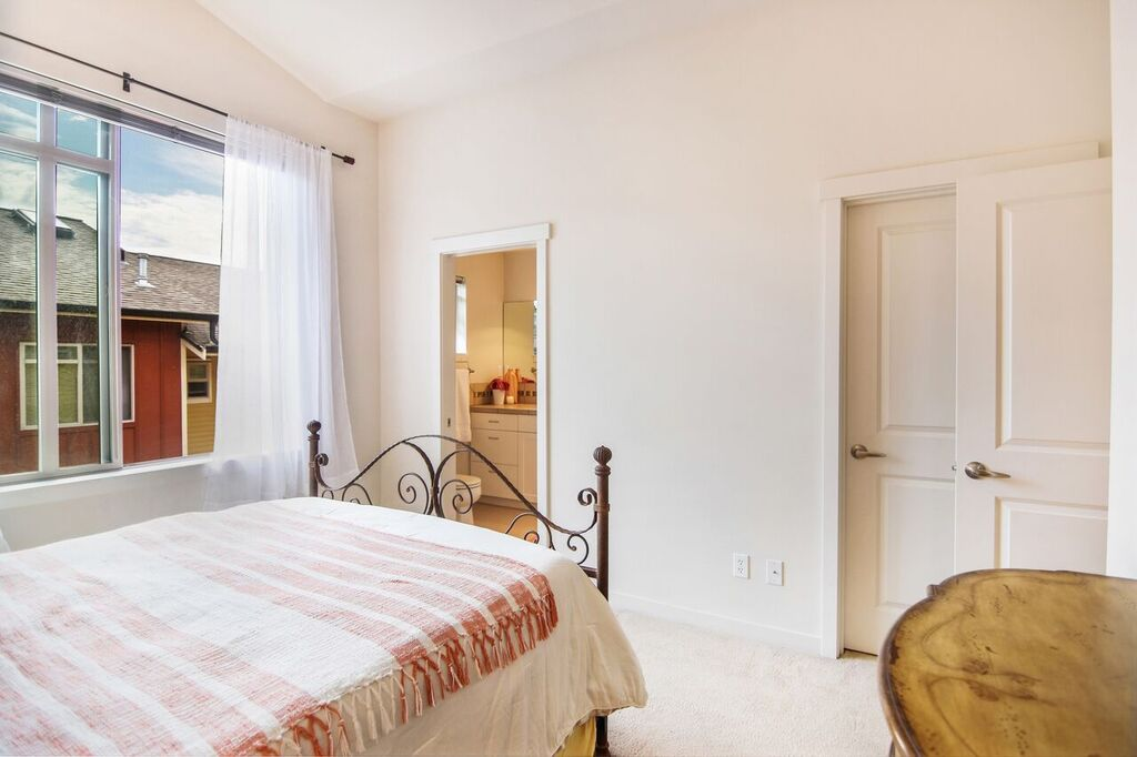 Included in the suite is a walk-in closet and full bath with washer & dryer just outside the door in the landing area.