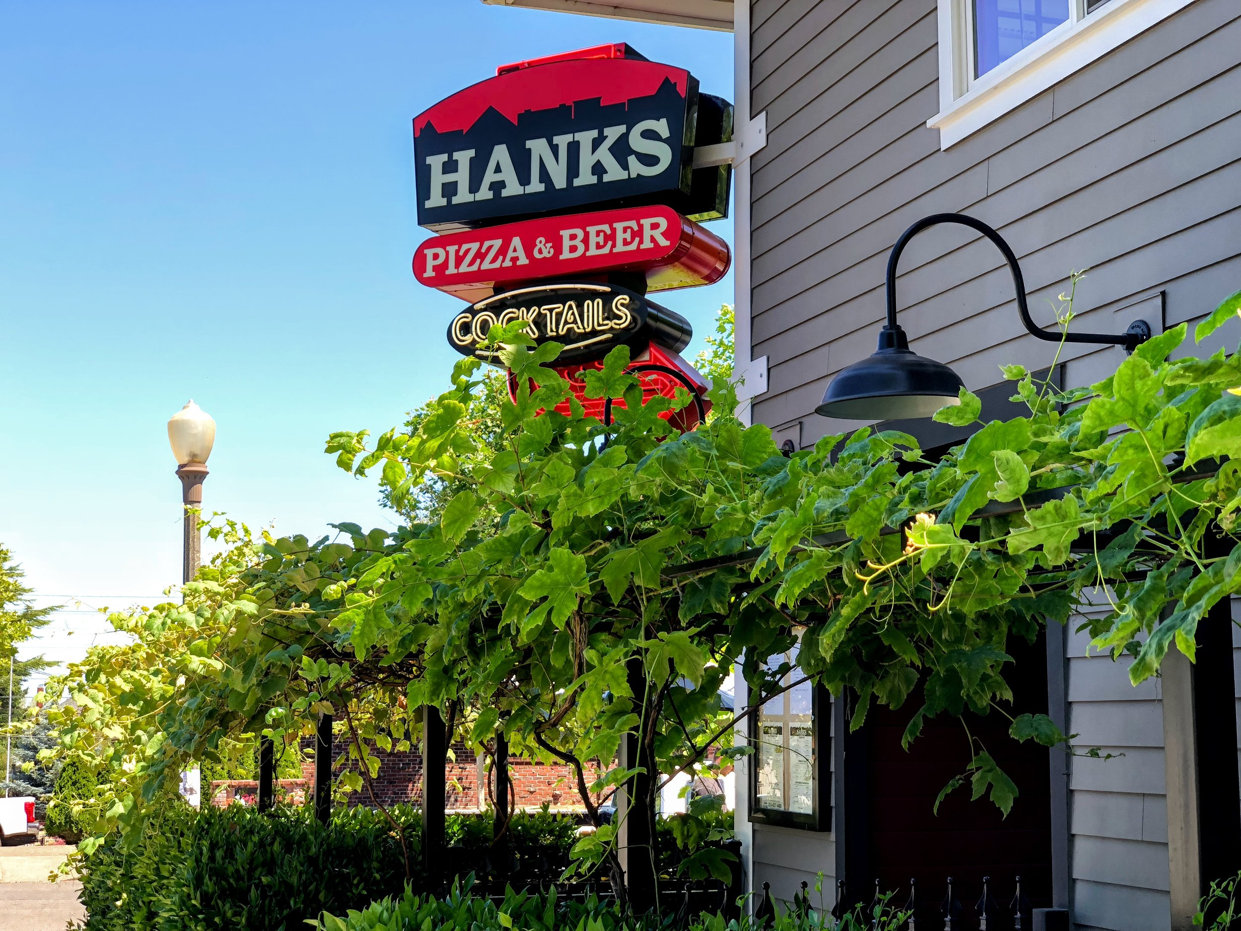 Hanks with its renovated polished wood interior and beautiful patio is just 2 blocks away!