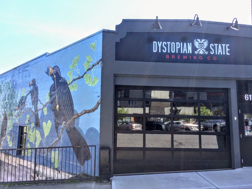 Dystopian Stae Brewery, one of Tacoma's favorite local breweries and taprooms.