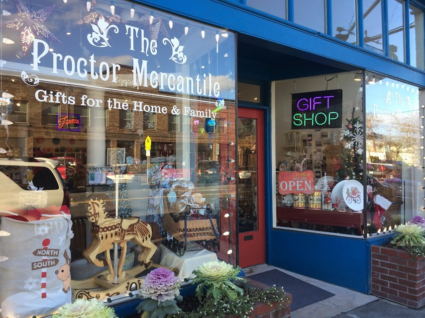 The Proctor Mercantile is one of the neighborhood's locally owned shops with gifts for babies, friends, home, and probably something for you too.