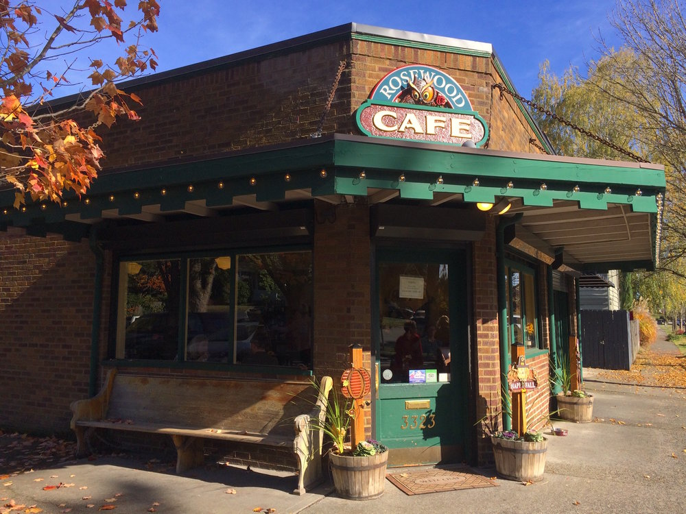 The Rosewood Cafe is a cozy spot for sandwiches, soup, a glass of wine, and a chat.