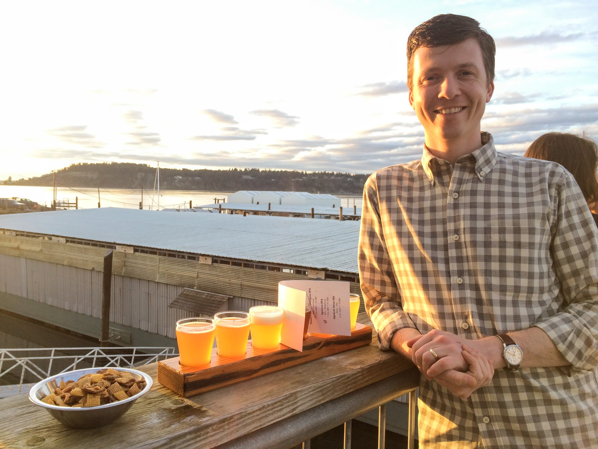 Enjoy a flight of local brews out on the deck when the weather's nice. Add some crunchy snacks or even bring your own food!