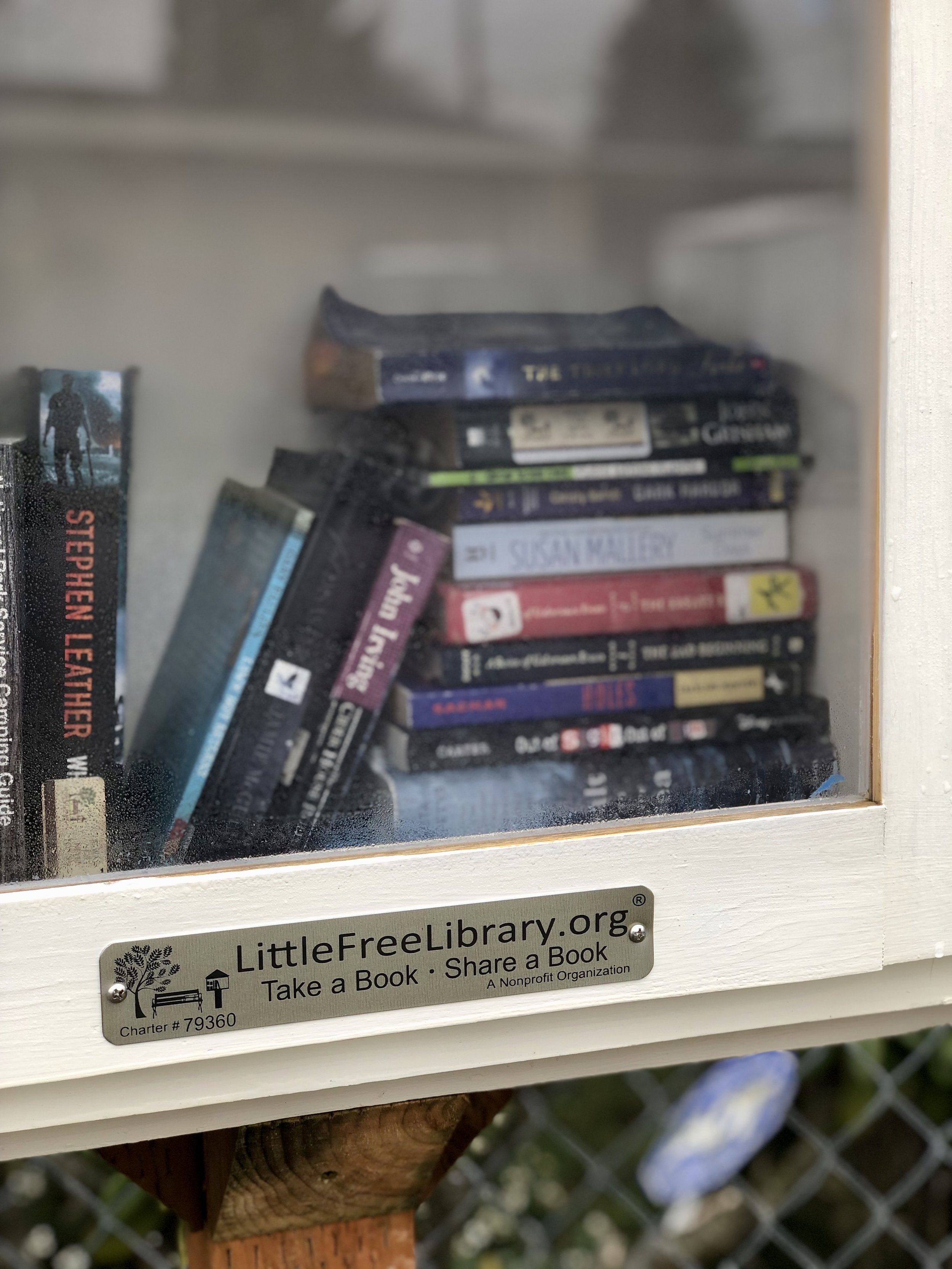 "Another thing Melo loves about Little Free Libraries: ""No late fees!"""