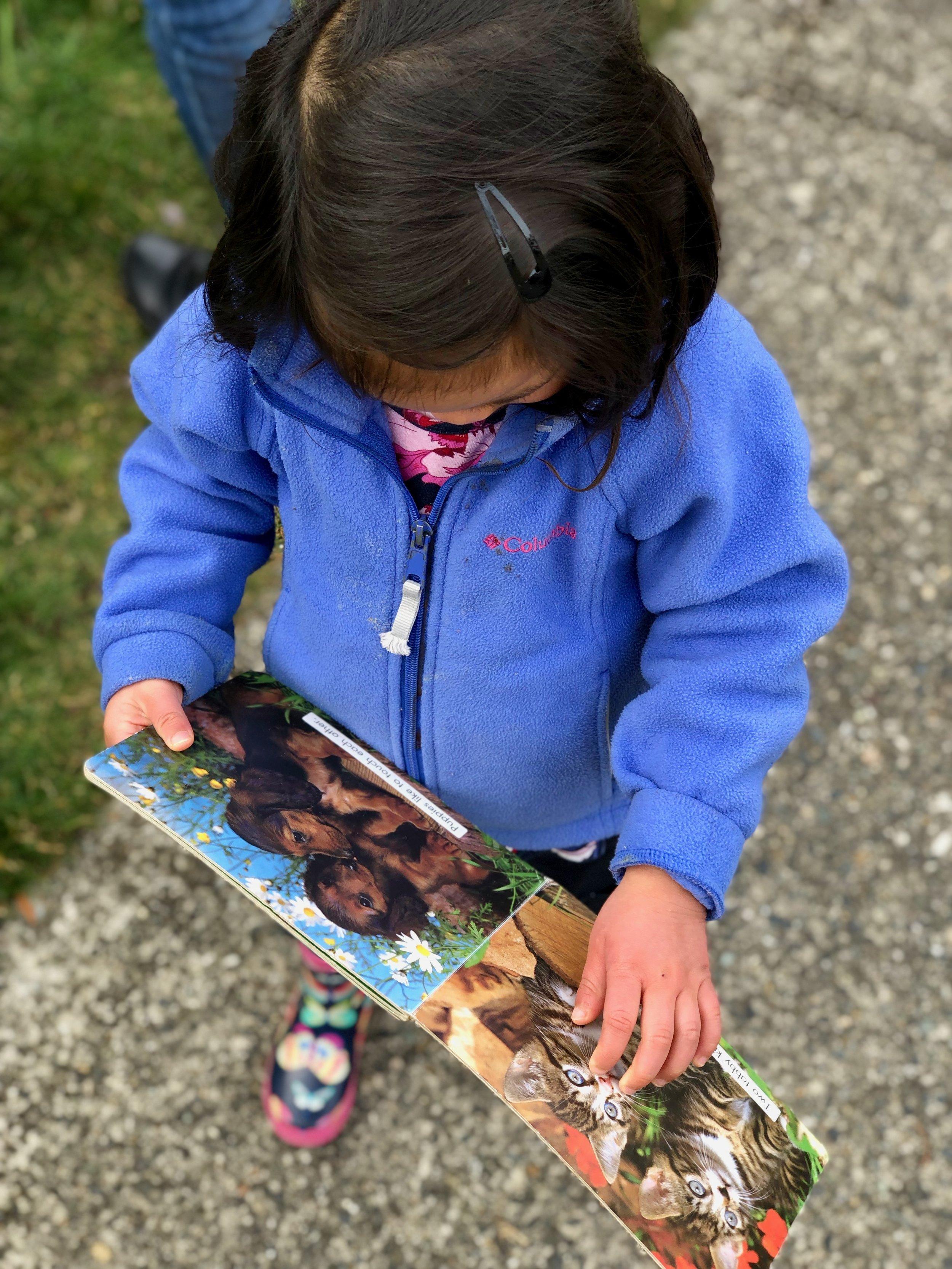 A little sidewalk reading.