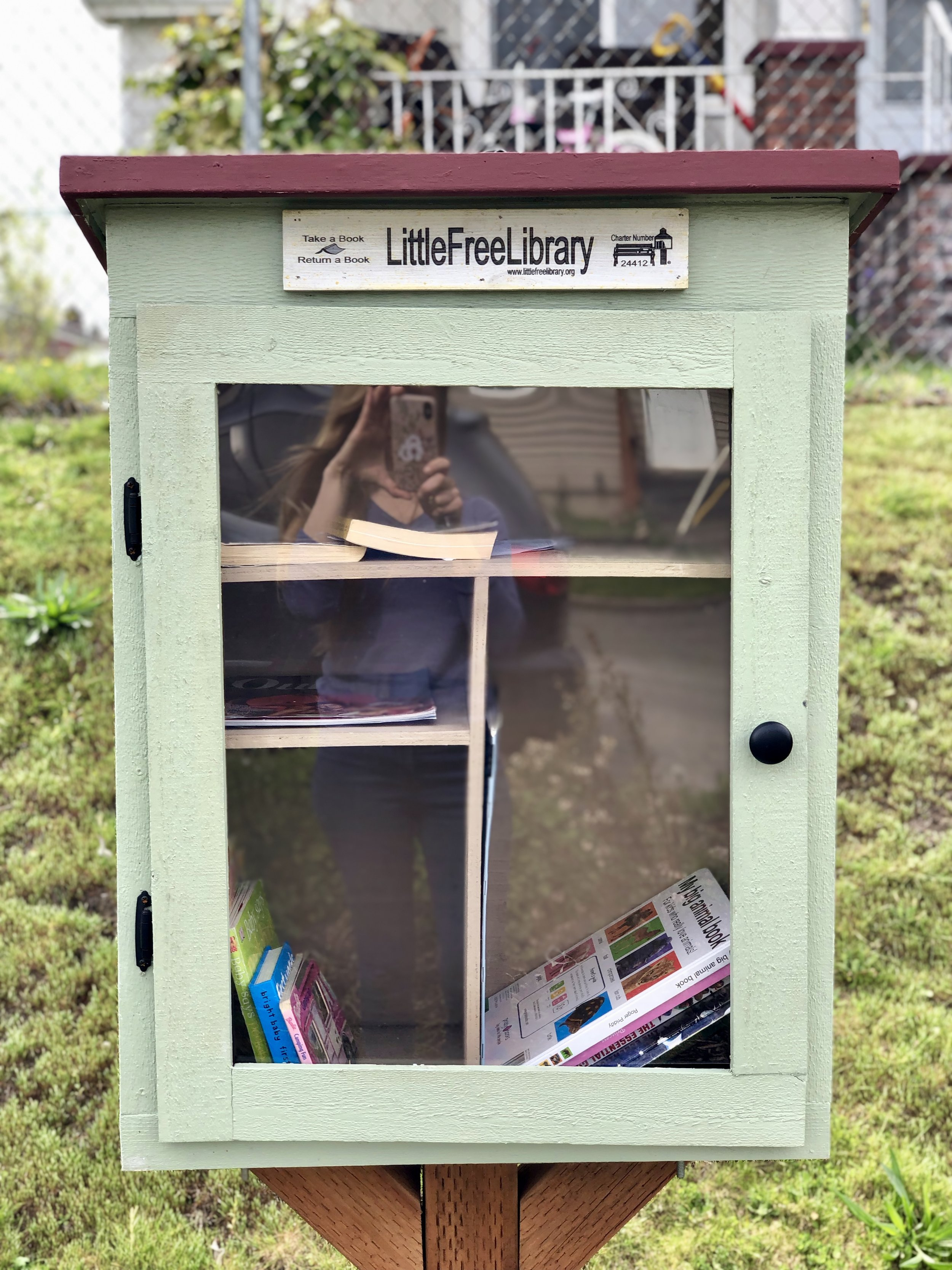 Little Free Libraries like this one on M St. get a lot of traffic! Let's go from this…