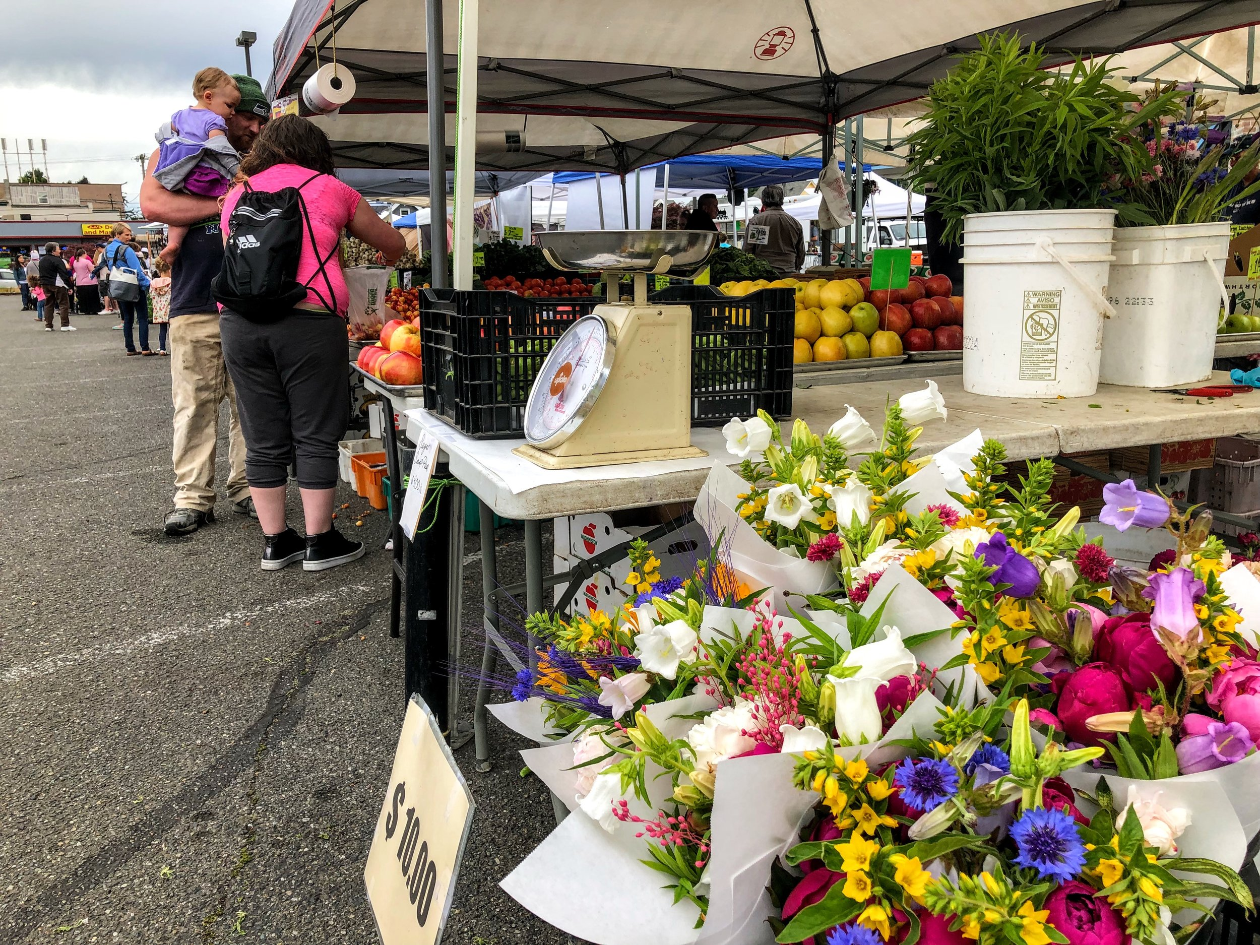 We found lovely flowers and beautiful produce at the Eastside market last summer!