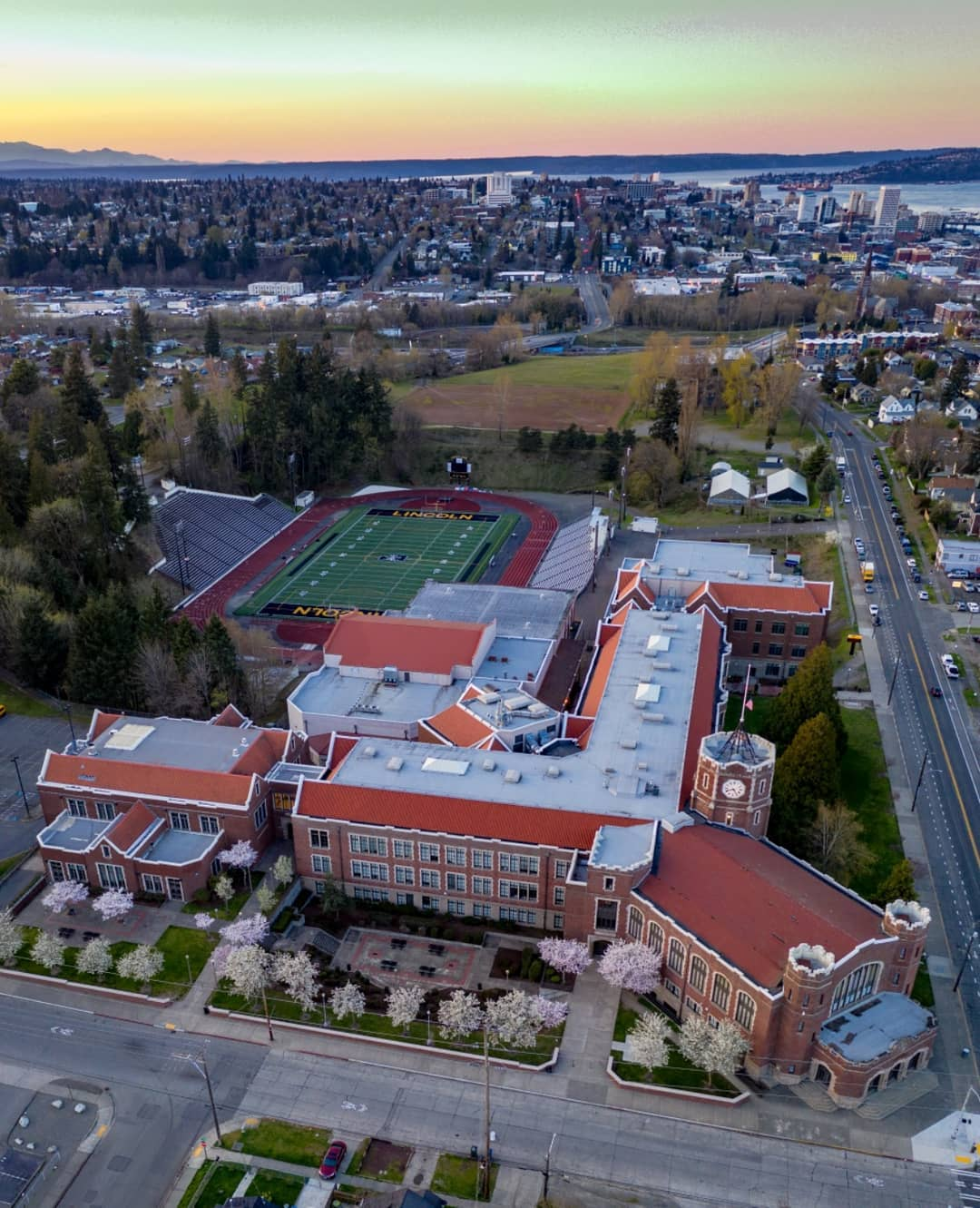 Image from    Over Tacoma     - Lincoln High