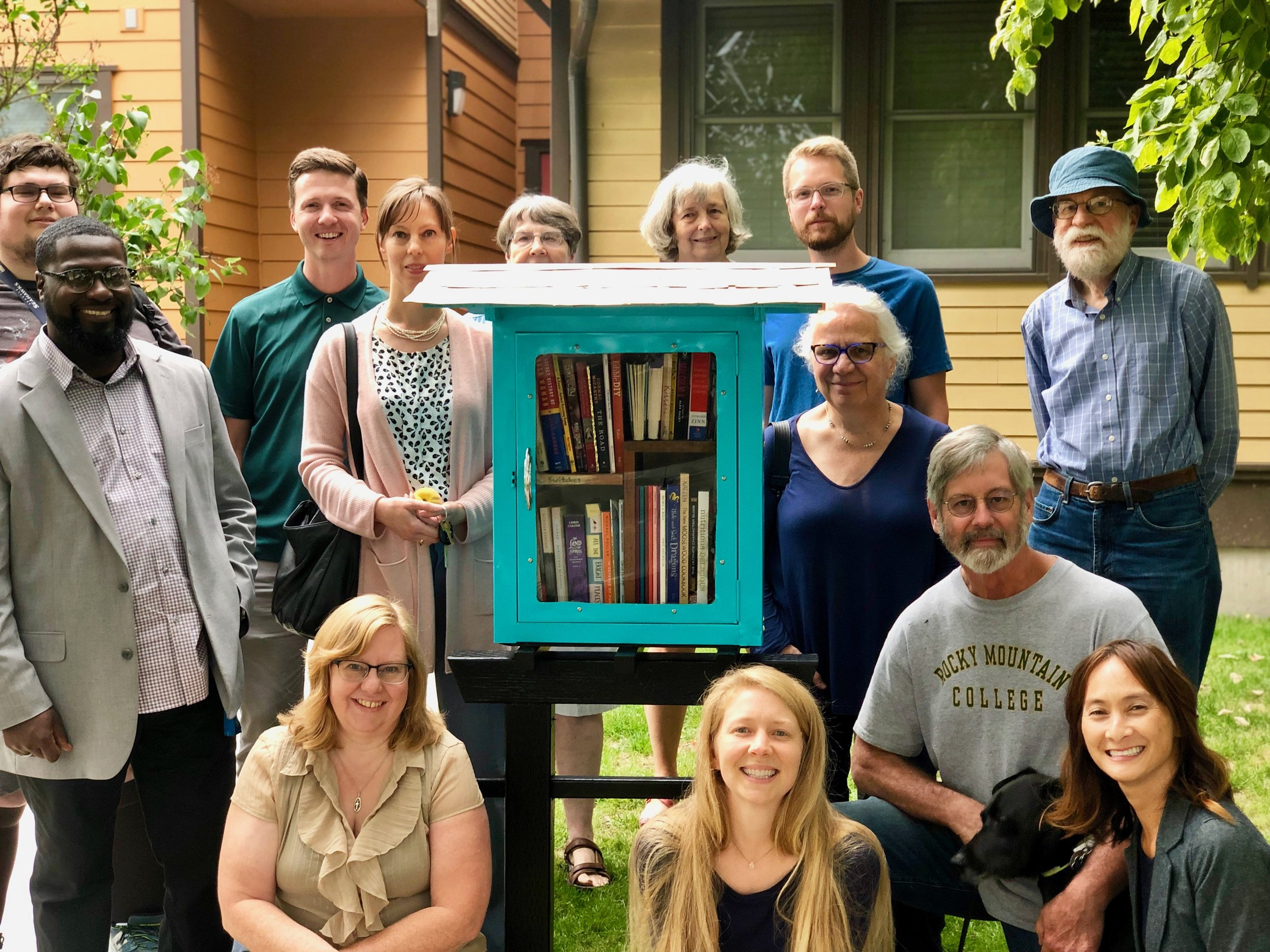 Members of the Peace Community, Tacoma Community, and Hilltop Neighborhood joined us to celebrate the installation of the Peace Library, talk about books, and fill up the shelves for the very first time.