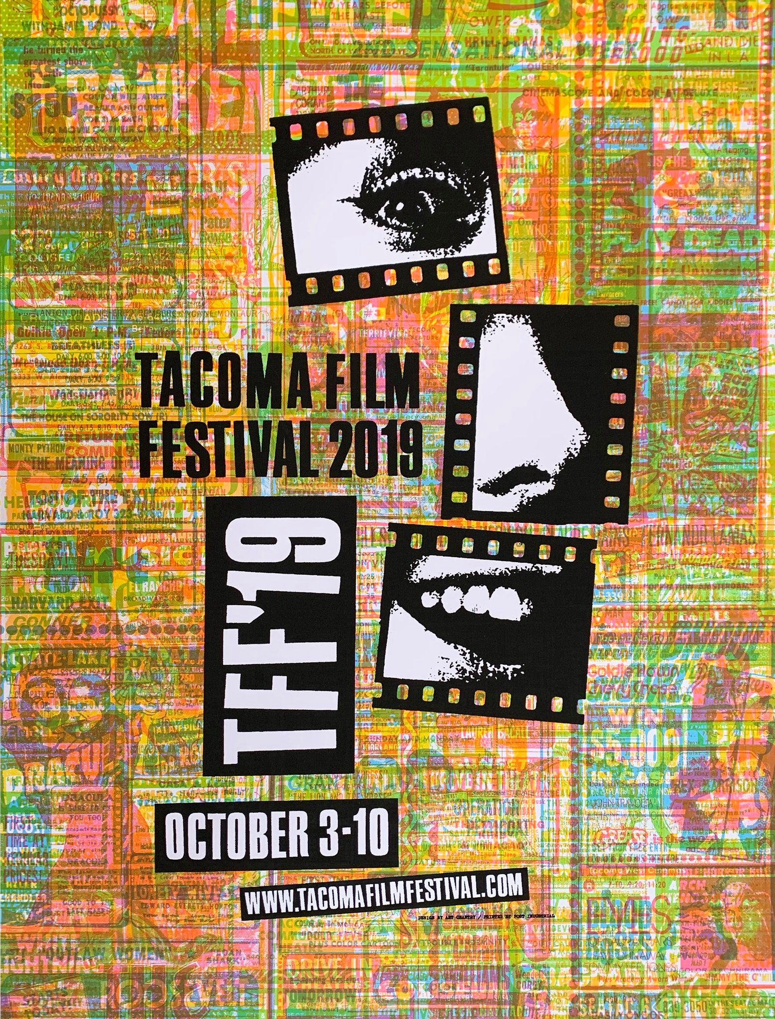 Image from   Tacoma Film Festival  - poster design by  Art Chantry