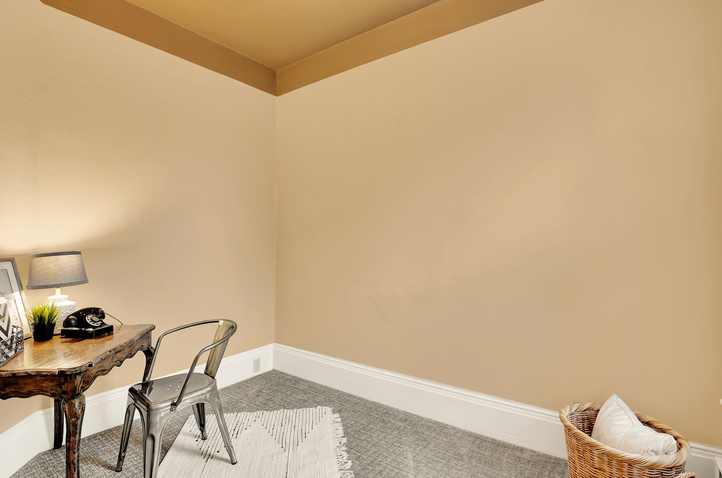 This third bedroom makes a good nursery, child's room, guest room, or office.