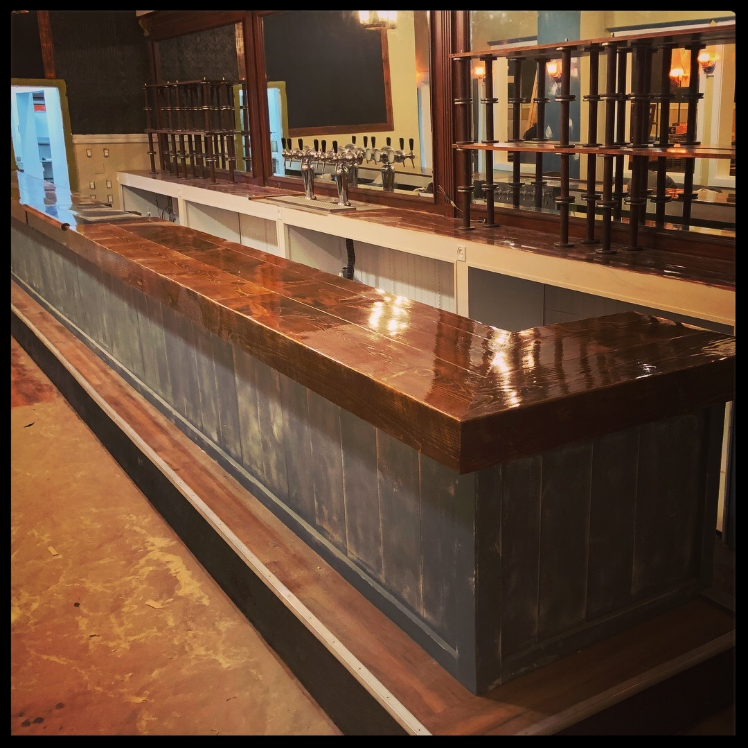 """The bar renovation for Lowell's newest Gastro Pub named """"The Keep"""" came out amazing!"""