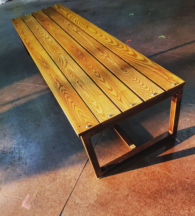 Our final benches for #ManofLaMancha @triadstage. . . Post-production, they will become the new benches for the lobby. #glowup . . #props #propcarpentry #benches #propsistops