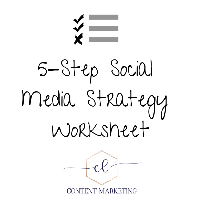 Your Social Strategy Map - This one-page social media strategy worksheet will help you iron out what to post, when to post it, and how to turn your audience into raving fans!