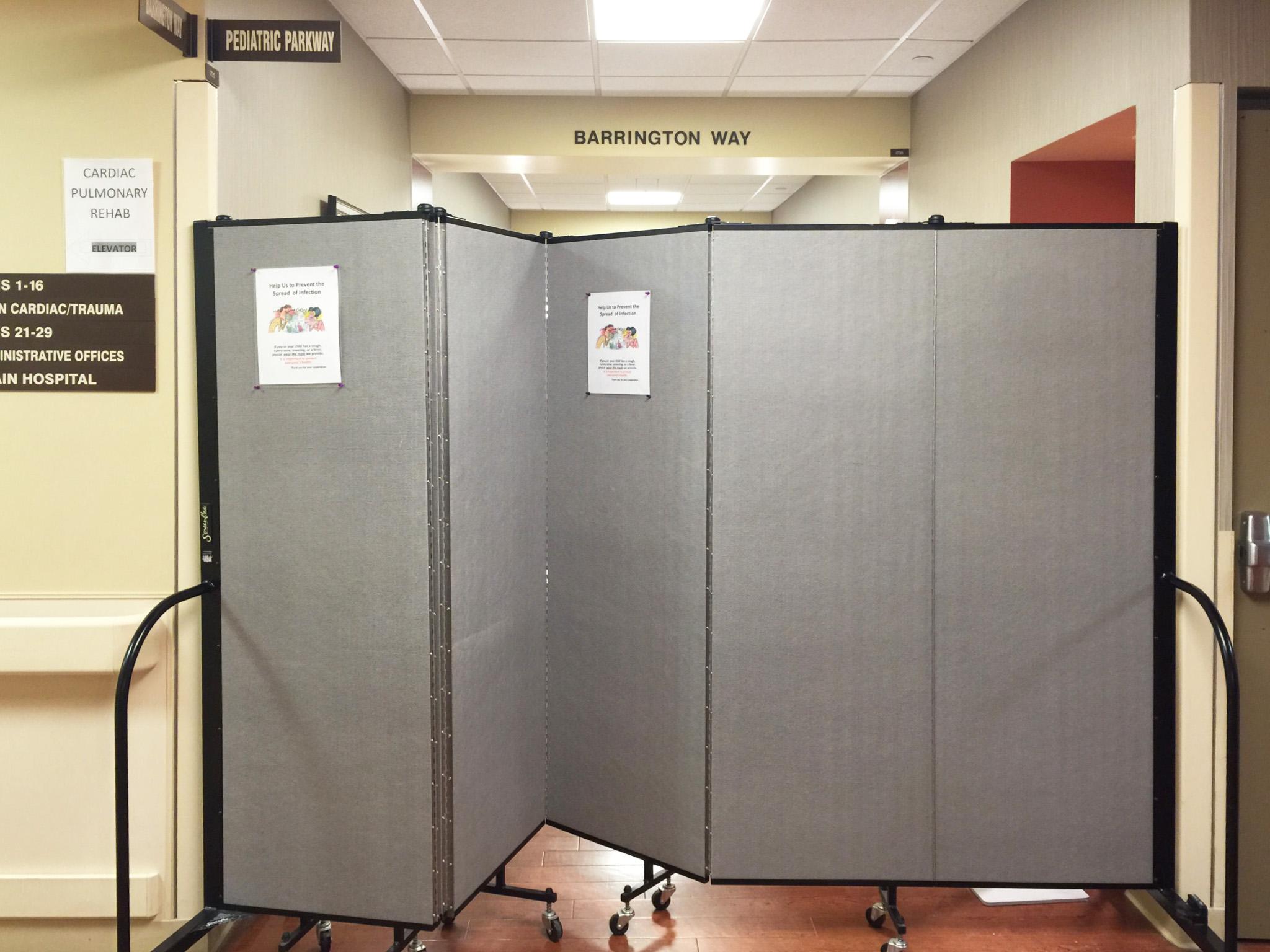 Screenflex adds privacy in hospital