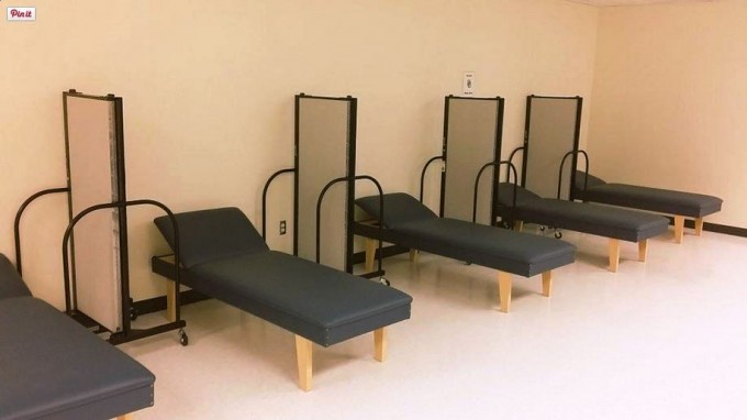 Screenflex provides a little privacy in outpatients