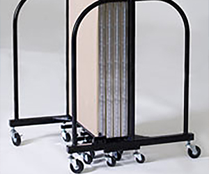 Tubular steel end frames are designed to create a low center of gravity, which makes the temporary units more stable. Also gives you greater ease of movement and a clear sight line when on the move.