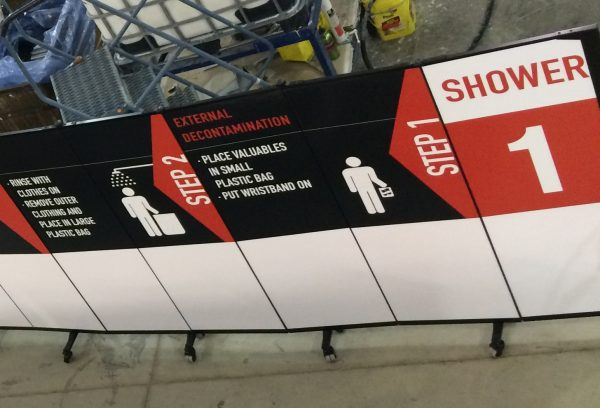 Screenflex used for signage and screens