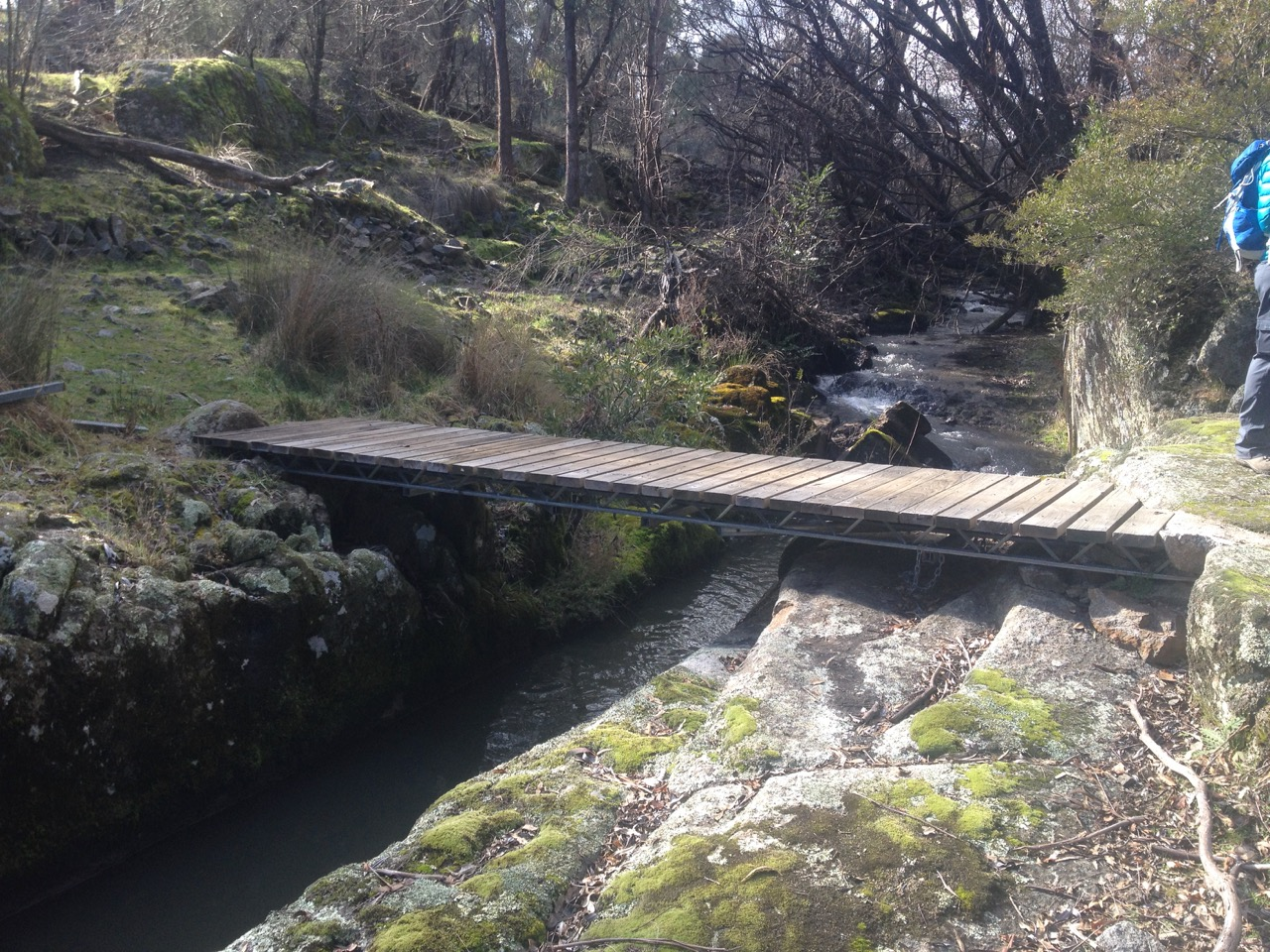Remnants of mining operations on Burra Creek