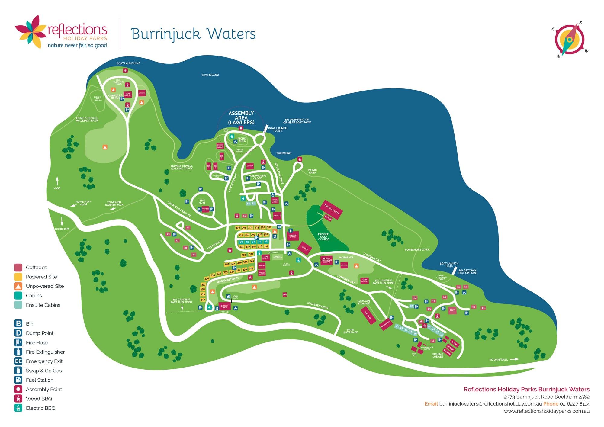 Useful Burrinjuck Map
