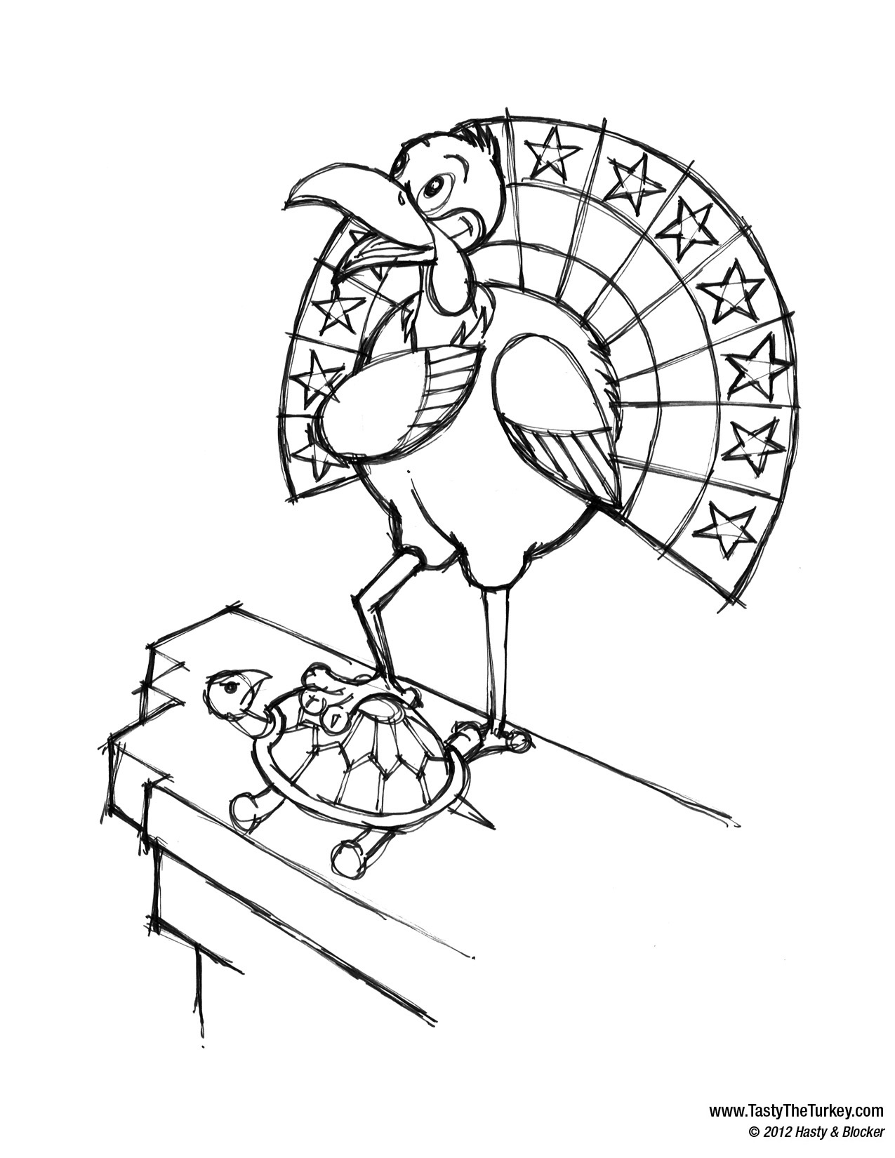 Tasty the Turkey Coloring Book