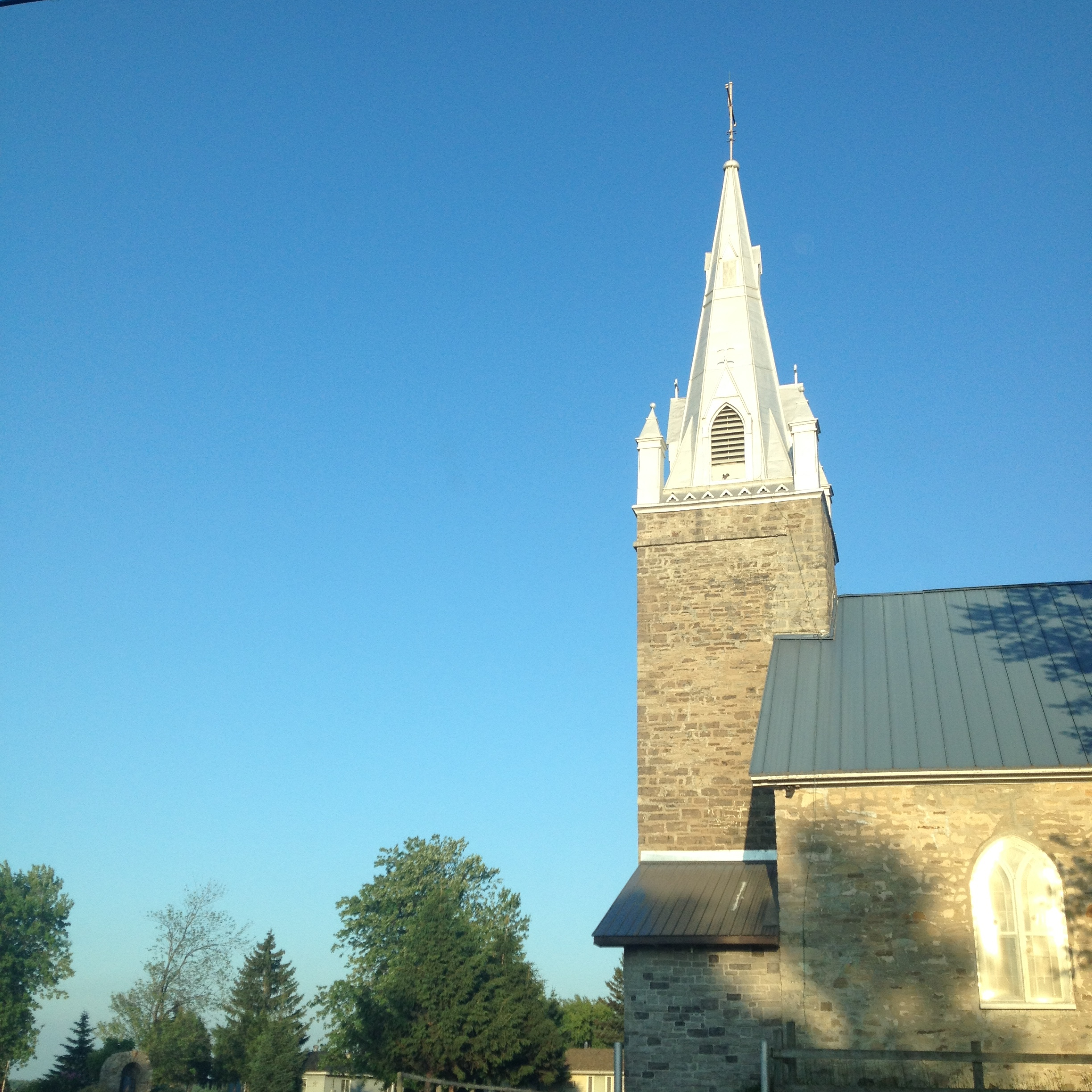 The St. Regis Mohawk Church, located in Kahnawake, Canada.