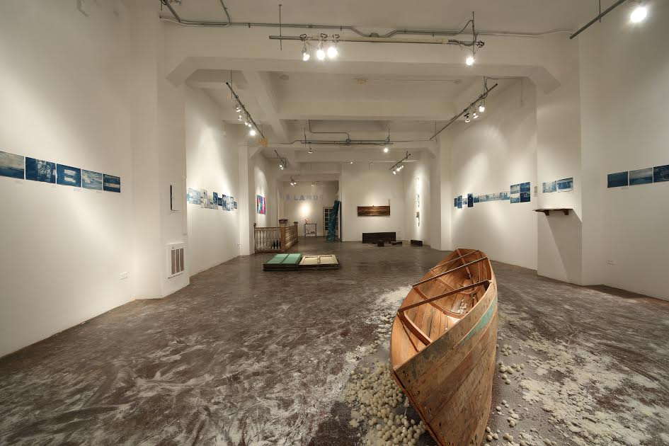 Installation view of Hinterlands. Luggage Store Gallery, 2012.