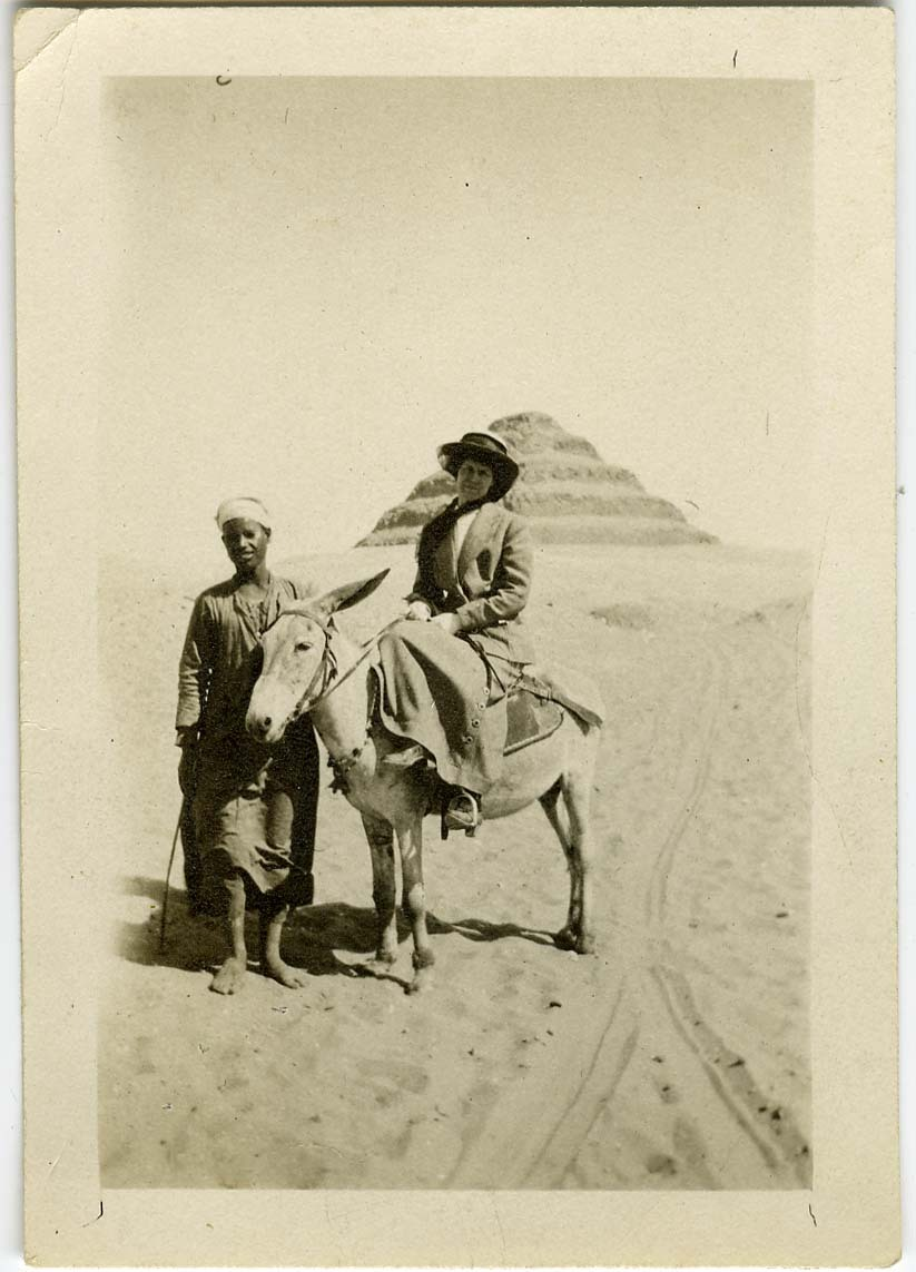 Great-grandmother Sophie on her honeymoon in Egypt - turn of the century
