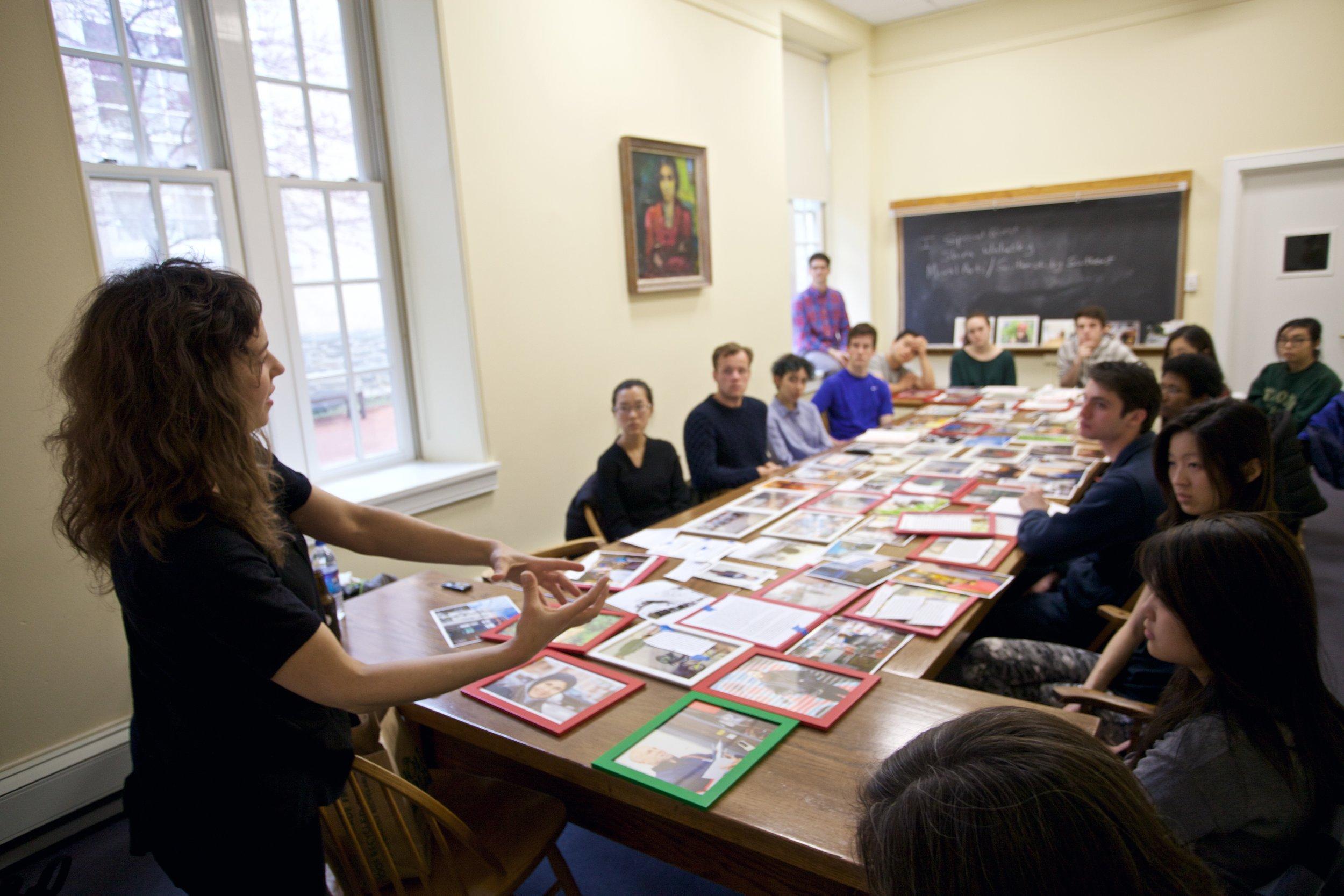 Philadelphia Freedoms: Artist Shira Walinsky Class Visit (Photo by Caleb Eckert)