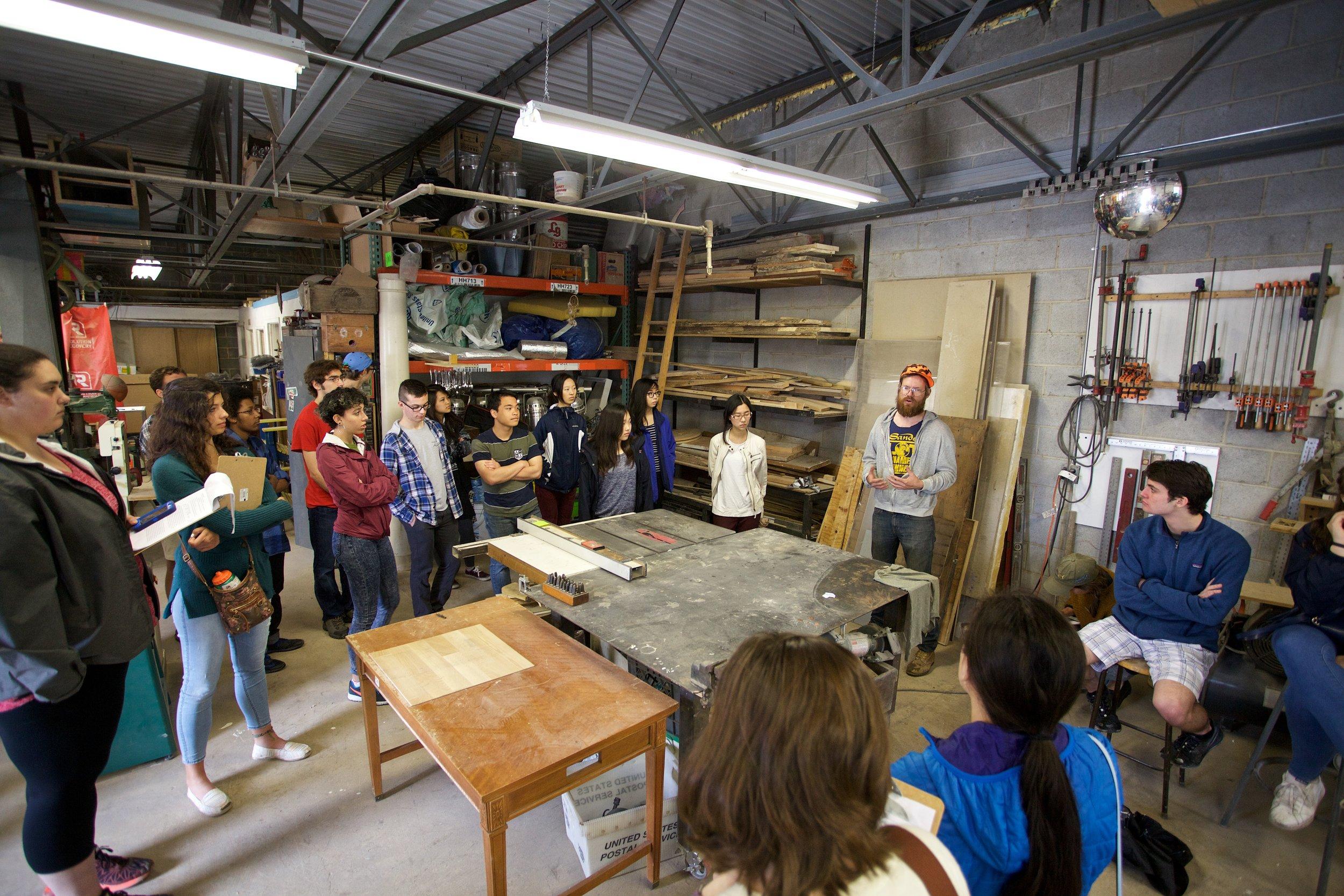 Philadelphia Freedoms: Class Site Visit to RAIR Philly (Photo by Caleb Eckert)