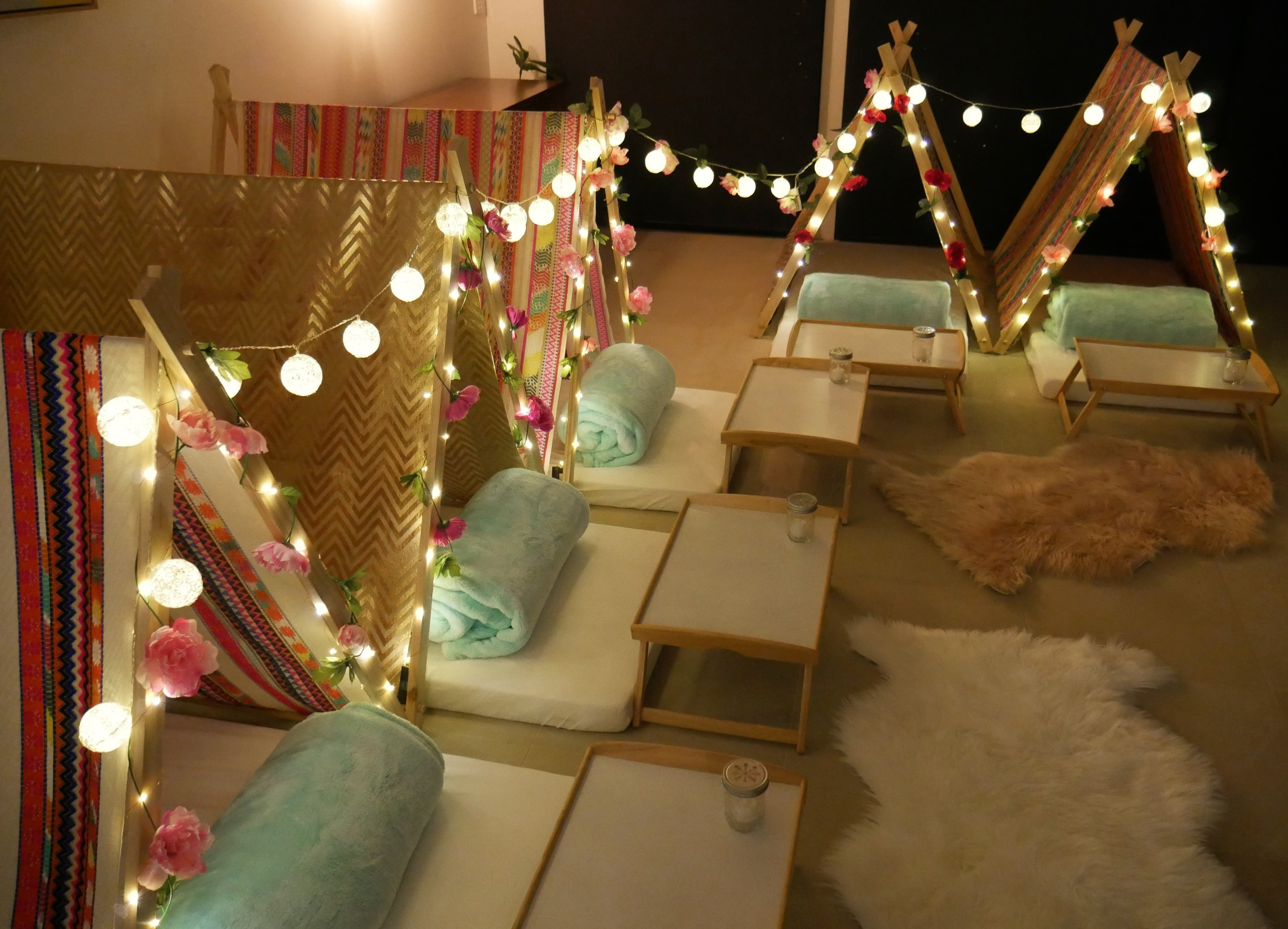 Kids Slumber Party Hire Melbourne Boho Princess Theme