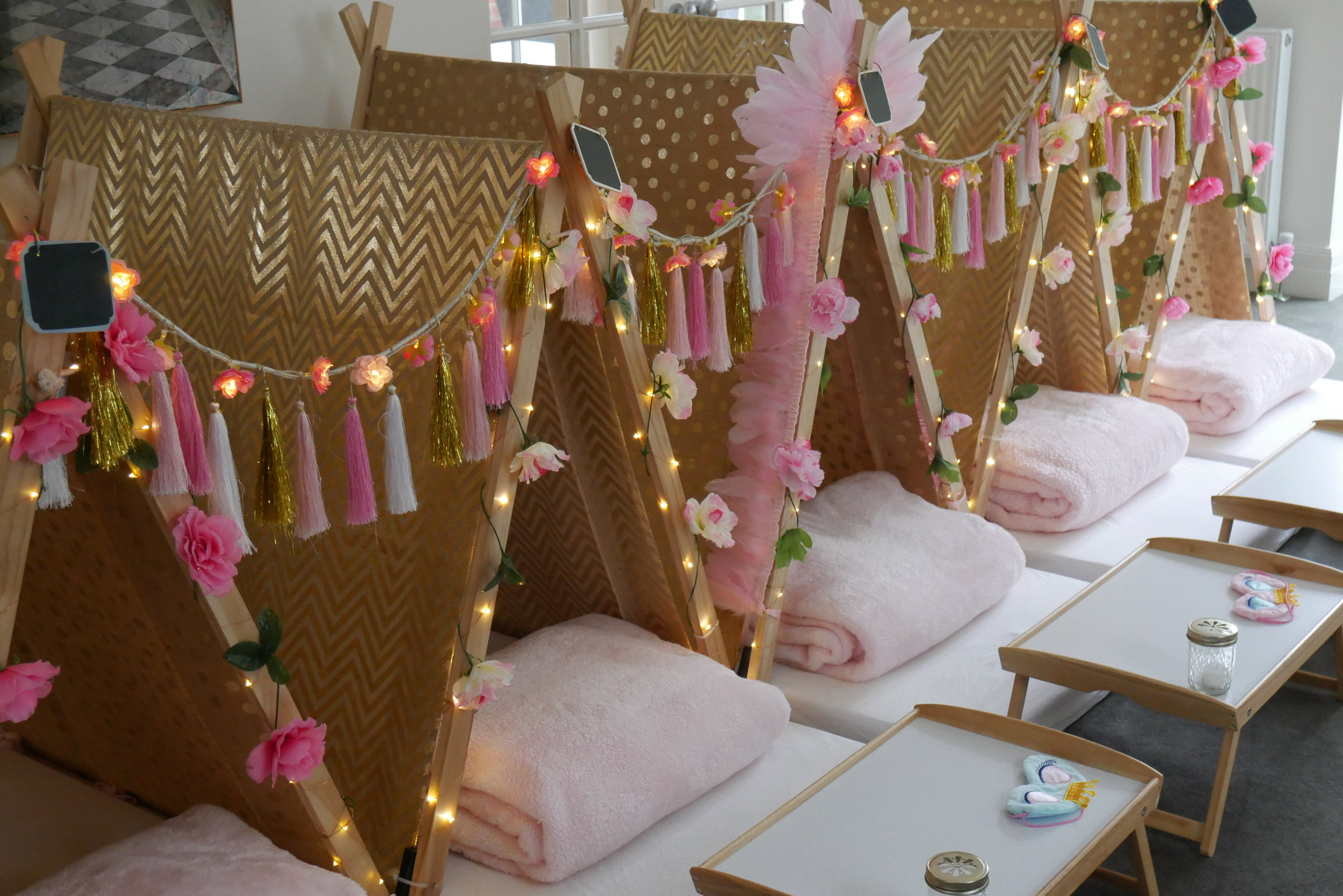 Kids Slumber Party Hire Melbourne Boho Princess Theme