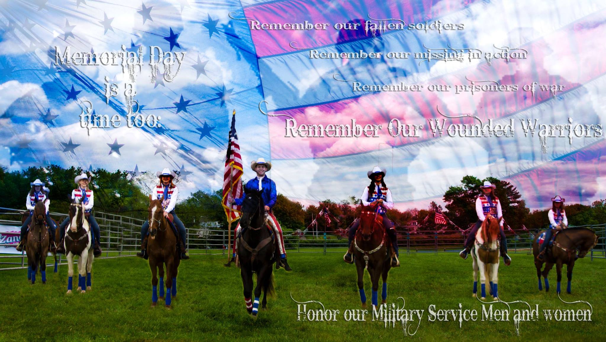 A performance image converted into a Memorial Day message.