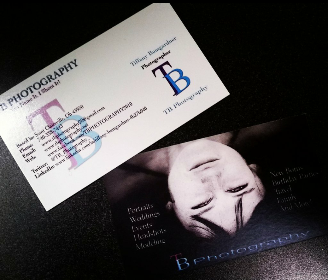 Custom business cards.