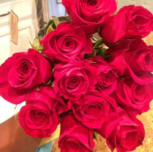Yes to being soo ALIVE & VIBRANT like these beautiful roses my family got me for my birthday this year! :)