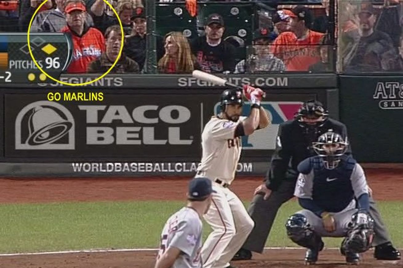 Pictured: not a Marlins game.