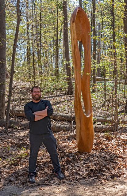 """Hardwoods III:  8' tall, base is 36' x 36""""  700 pounds  $3500"""