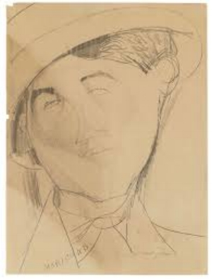 The Swiss astrologer Conrad Moricand, 1887-1954, drawing by Amedeo Modigliani, 1916