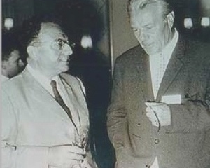 Fritz Riemann (1902-1979), at right, with Erich Fromm